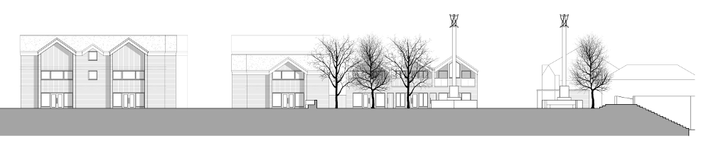 Site Elevation for The Coal Orchard Proposal, Taunton.
